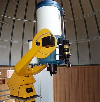 retrofitted research telescope