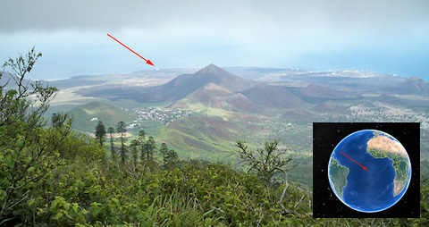 mcat ascension island and inset map